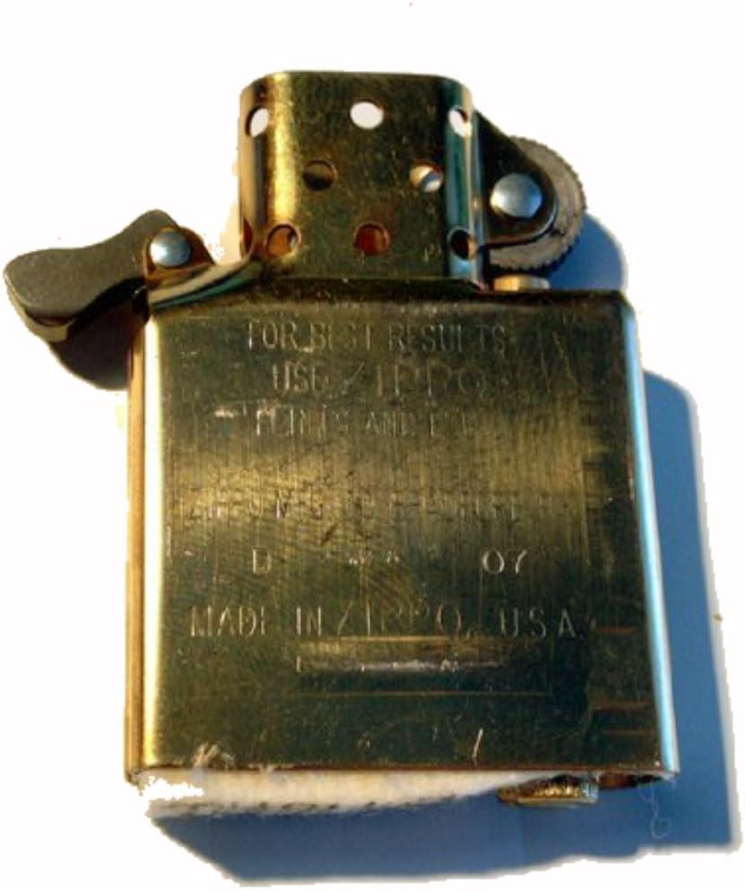 Zippo Inside Guts Brass Finish (No Outside Case) Only Inside Insert