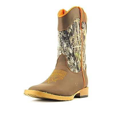 7ab73be5066 Double Barrel Boys' Buckshot Camo Cowboy Square Toe Boot