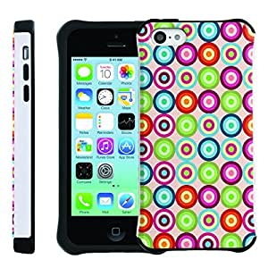 [ManiaGear] SLIM Rugged Hybrid Image Protector Cover (Rainbow Circle) for Iphone 5C