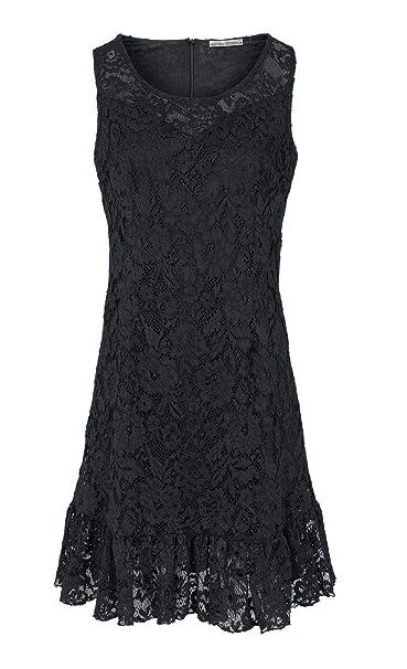 spitzenkleid schwarz 46