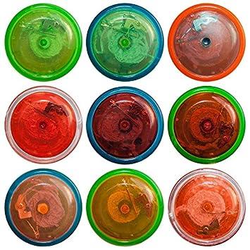 Spielzeug & Modellbau (Posten) Jojo mit LED Lichteffekt 6 cm Spiel Spiele Seil Tombola Mitgebsel Give away