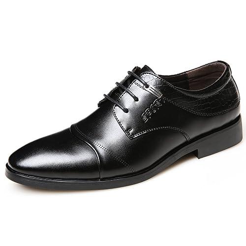 29dc3aa8699e Souliers Business Chaussures Homme Oxford Chaussure de Ville à Lacet  Microfibre Genre Masculin British Style Bout