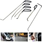 WHDZ PDR Rods Auto Body Dent Repair Hail Damage Removal Tools Dent Hammer for Door Dings Hail Repair and Dent Removal (6 Pieces)