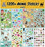 Josephine on Caffeine Animal Sticker Assortment Set (1200+ Count) Collection for Children, Teacher, Parent, Grandparent, Kids, Craft, School, Planners & Scrapbooking
