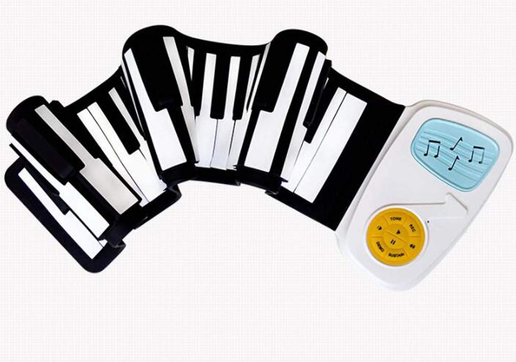 CE-LXYYD 49-Key Hand roll Piano, Children's Entry Portable eco-Friendly Silicone Keyboard, Built-in Speaker, with 6 Demonstration Songs to Support Recording,White by CE-LXYYD (Image #3)