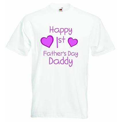 les dernières nouveautés pas mal choisir authentique Happy première fête des pères Papa - Filles T-shirt ...