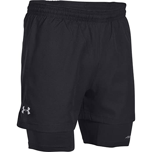 127f73bc6c7d3 Under Armour Men's Launch Run Racer 2-in-1 Shorts, Black /Reflective