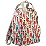 Cath Kidston Matt Oilcloth Multi Pocket Backpack Rucksack Guards & Friends Colour Cream 16SS