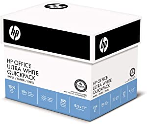Office Ultra-White Paper, 92 Bright, 20lb, 8-1/2 x 11, 500/Ream, 5/Carton, Sold as 2500 Sheet