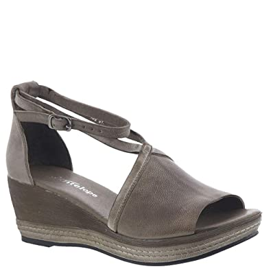 948112fc777 Antelope Ankle Wrap Low Wedge Women s Sandal 36 M EU Grey