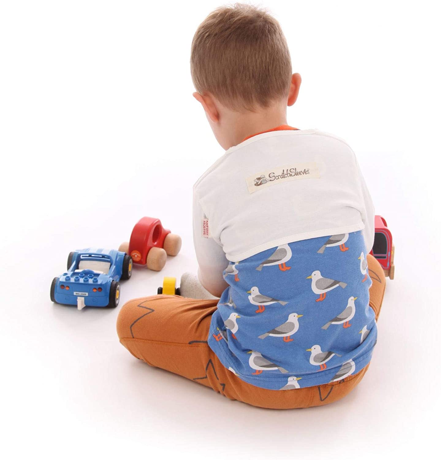 Stay-on Scratch Mitts for Itchy Toddlers /& Pre-School Children ScratchSleeves SuperSensitive