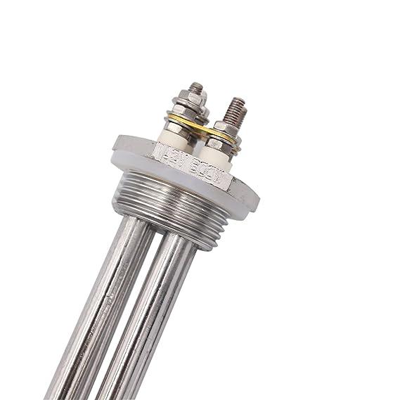 Aiicioo 12v 600w Elemento de Calefacción Material de Acero Inoxidable Grado Alimenticio Resistencia para Calentador 1
