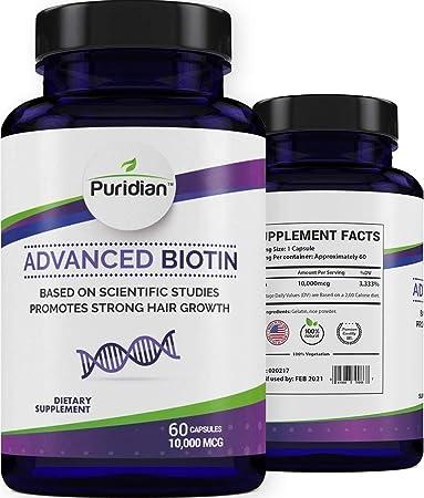 Vitaminas para El Cabello Con Biotina 10000 Mcg para Crecimiento Rapido De Pelo Grueso Y Saludable Estas Pastillas Ayudan A Prevenir La Caida Del ...