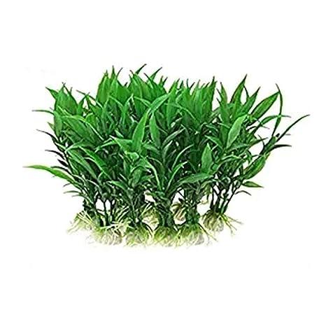 NaiCasy Planta Acuario 5pcs decoración de la simulación de la Suerte Verde de bambú del Paisaje