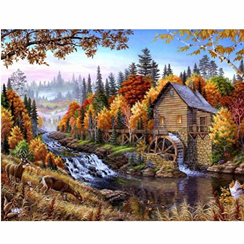 Geyou 5D Diamond Painting by Number Kits Unicorn Flower Stitch DIY Embroidery Diamond Home Decor Gift New,Cross-Stitch Stamped Kits (B)
