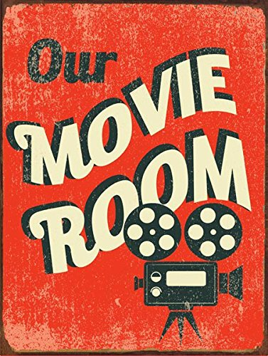 Our Movie Room Metal Sign, Den Décor, Home Theater, Home Cinema, Den Décor