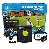 FunAce Radio Wave Electric Dog Fence System - Easy to Install In-Ground Wired Pet Containment Kit - 100% Safe & Harmless to Pet - Allow Your Dog to Run Freely in a Predefined Area - W901