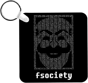 Cloud City 7 Fsociety Binary Code Mr Robot Keyring Auto