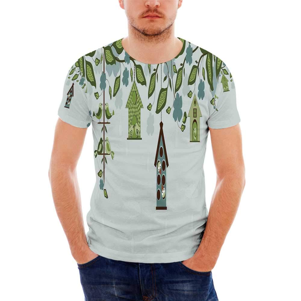 Batik Decor Fashionable T Shirt,for Men,S