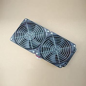 Ulable puro aluminio 240 mm refrigeración de agua radiador refrigerador de agua intercambiador de calor