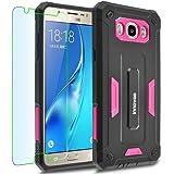 Samsung Galaxy J5 (2016) / J510 Case, INNOVAA Receptacle Armor Case (Not Compatible with Samsung Galaxy J5 (2015) / J500) W/ Free Screen Protector & Touch Screen Stylus Pen - Black