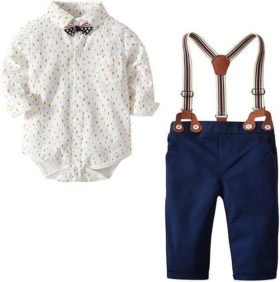 ARAUS Bebé Conjuntos Camisa con Corbata + Pantalones Largos con ...