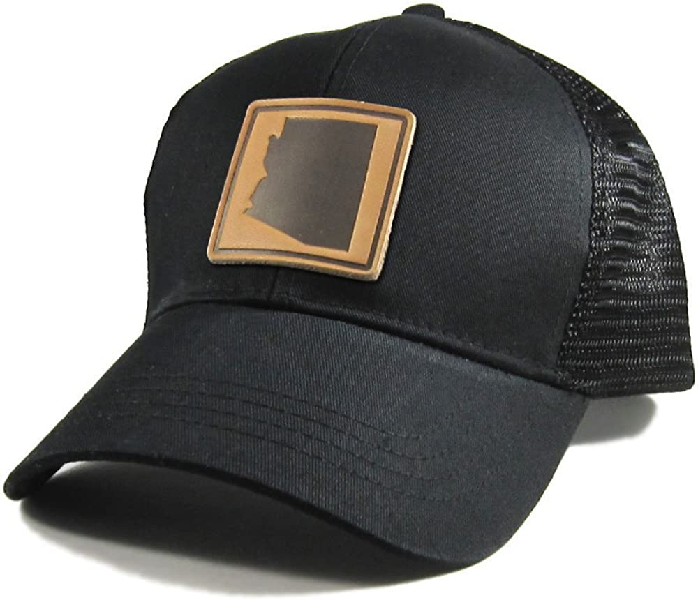 Homeland Tees Mens Pennsylvania Leather Patch Cotton Twill Hat