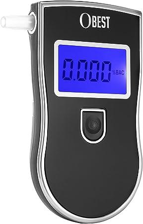 Atemalkoholtester Professioneller mit Digitaler LCD Promilletester mit 20 Speicherfunktionen Kollea Alkoholtester Tragbar Alkoholtester Polizeigenau mit 15 Mundst/ücke
