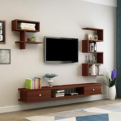Mueble TV de Pared Estante de la Pared Estante Flotante Set Top ...