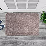 "Agréable Large Indoor Super Absorbent Door Mat, Powerful Non-Slip Door Rug for All Floor Types, Front Doormat Absorbs Muddy Shoes, Pet Paws, Wet Feet. Machine Washable. (24"" X 36"" Brown/Tan)"