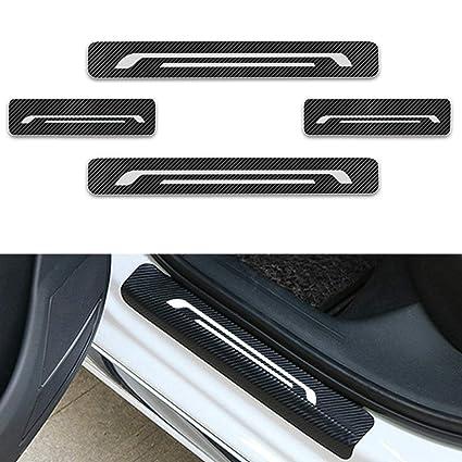 For OPEL Corsa Mokka Vivaro Antara Astra Insignia Door Sill Protector Reflective 4D Carbon Fiber Sticker