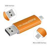 Clés USB,Colourstone High Speed Micro USB 2.0 32GB Flash Thumb Pen Drive Stick Mémoire pour Android Smartphones Tablettes PC Computers(D'or)
