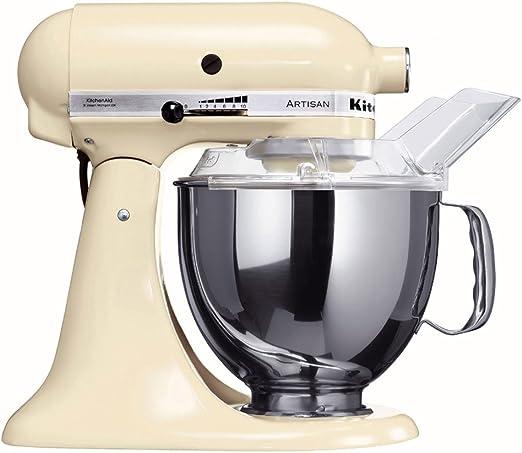 KitchenAid 5KSM150PSEAC - Robot de cocina, motor de 300 vatios, capacidad de 5 l, 10 velocidades, color crema: Amazon.es: Hogar
