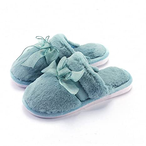 Womens Slippers New Winter Womens Slippers Warm Thick Bottom Non-Slip Couple Home Floor Slippers