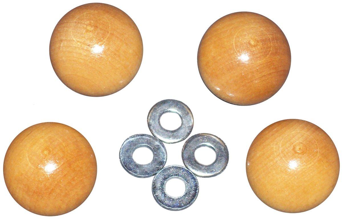 Edmunds Handi Clamp Wooden Ball Knobs, 4-Pack HC-KNOBS