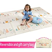 Infant Shining Baby Mat Play Mat Folding Puzzle Playmat Game Pad 200 * 150 * 1cm XPE Portable Double Sides Foam Crawling Mat for Infants landuo