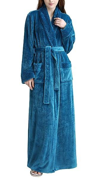 Pronghorn Vestido Largo para Mujer Vestido de Polar Albornoz Ropa de Dormir: Amazon.es: Ropa y accesorios