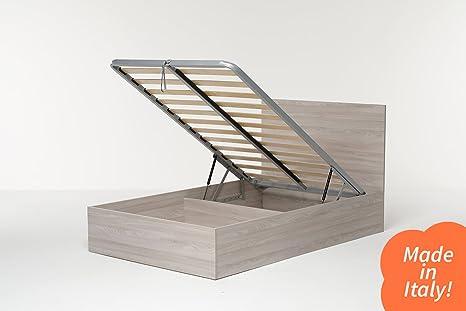 Cangù hi box letto contenitore olmo naturale 120 x 190 cm: amazon
