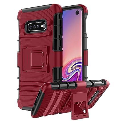 Samsung Galaxy S10E Case,CaseBing [Heavy Duty][Built-in Kickstand][Dual Layer] Non-Slip Shock Absorption Reinforced Corner Hybrid Protective Case ...
