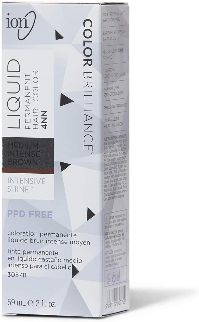 Permanent Liquid Intense Neutrals Hair Color 4NN Medium Intense Brown by Ion by Ion