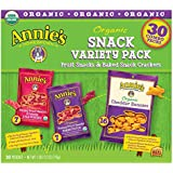 Annie's Organic Variety Pack: Fruit Snacks & Baked Snack Crackers (30 ct.)