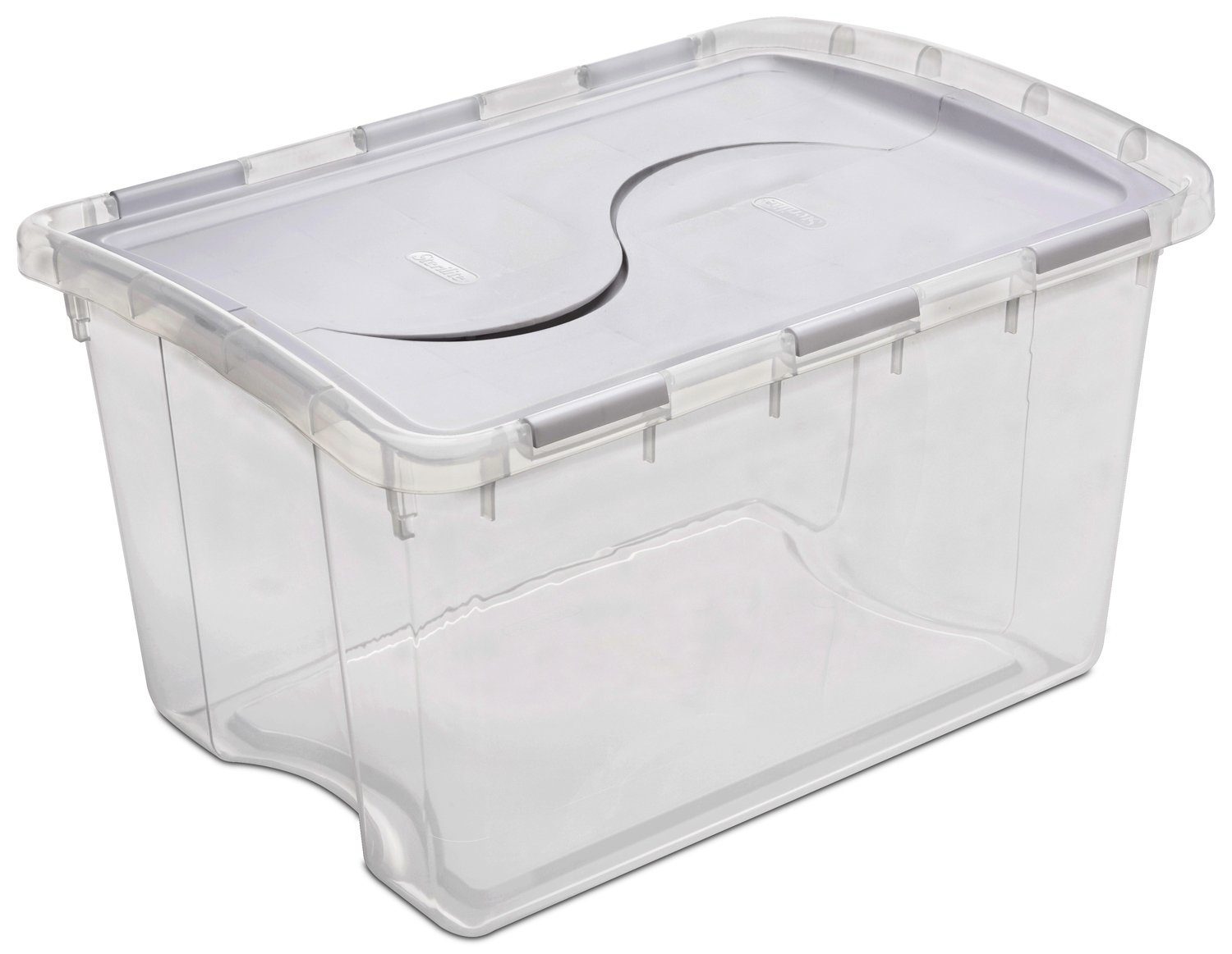 Attirant Amazon.com: Sterilite 19148006 48QT Hinged Lid Store Box: Home Improvement