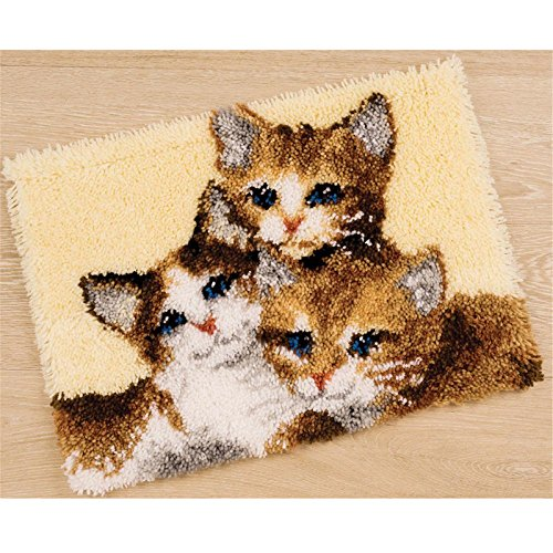 14 Model Cat Latch Hook Kit Rug Cat 576 21 by 15 Inch (1 pack) by BYT Collections