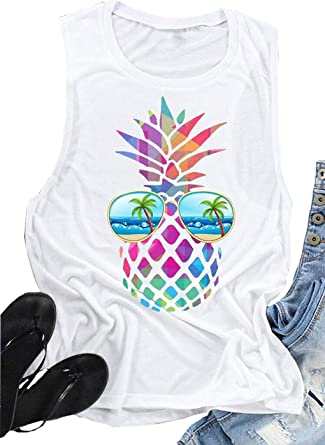 Gift New Babies Pineapple//Tropical All Over Print Vest Sleeveless Summer.
