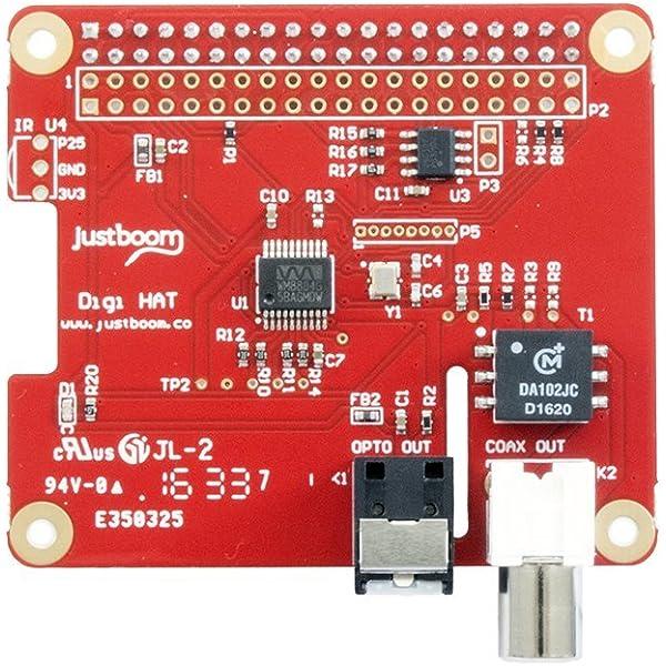 Justboom-justboom DAC Hat-Sombrero DAC para Raspberry Pi