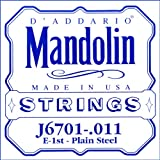 D'Addario J6701 Nickel Mandolin Single String, .011