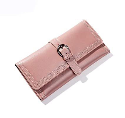Cartera Hebilla Retro Simple Monedero Largo para Mujer ...