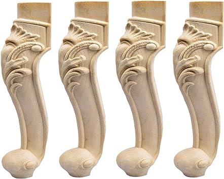 10 inch / 25cm Wooden Furniture Legs, La Vane Set of 4 European ...