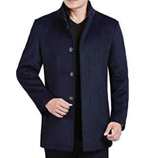 DAFREW factory Manteau en Laine pour Hommes, Manteau en