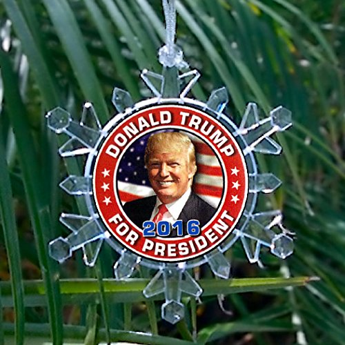 President Snowflake Blinking Christmas Ornament product image